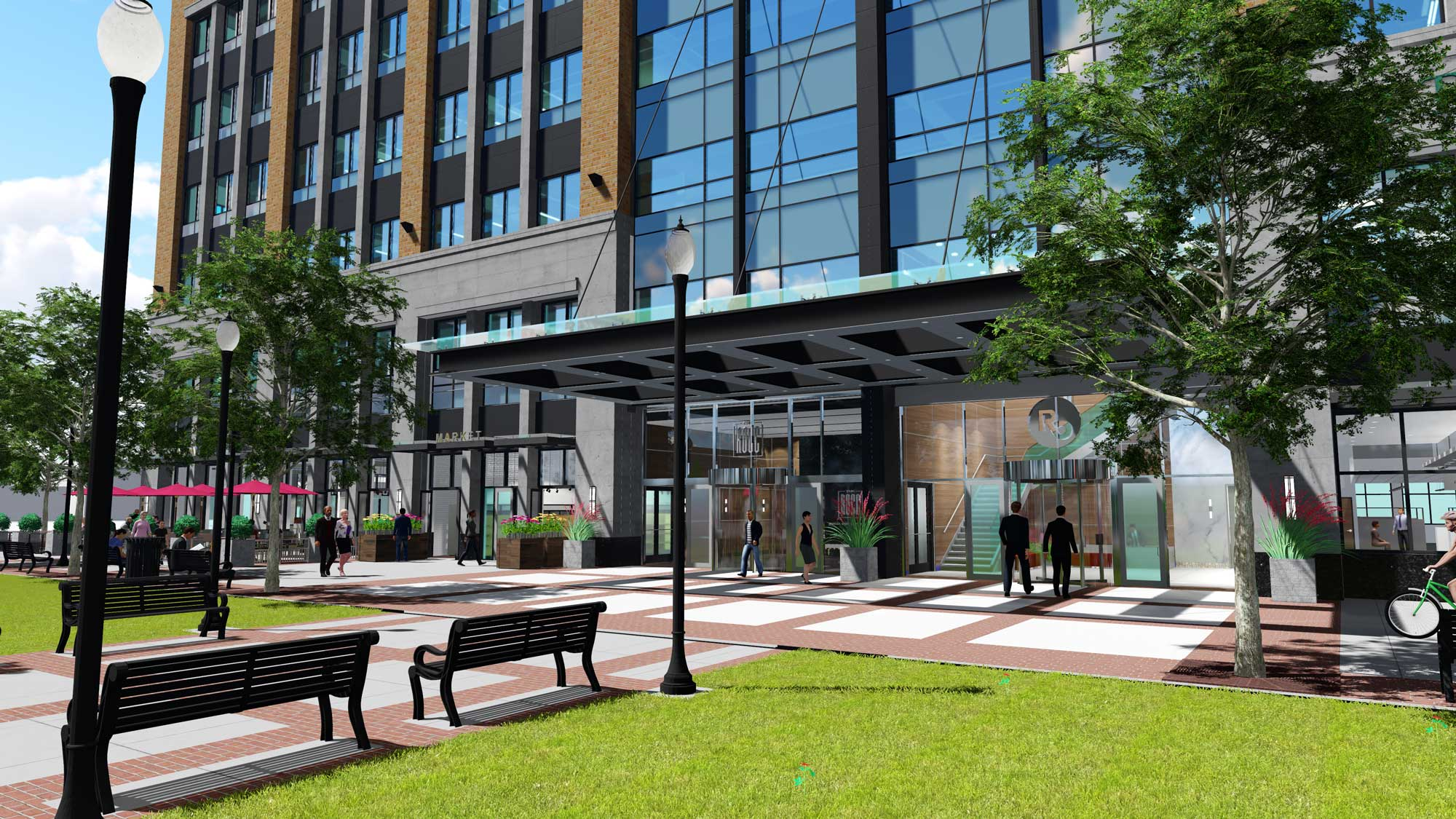 Royal Oak City Center Entrance