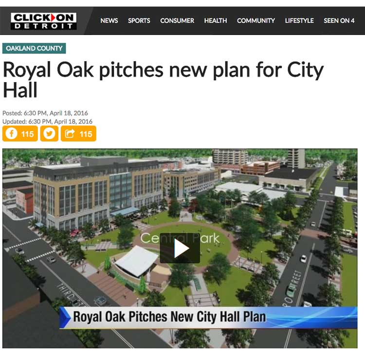 WDIV: Royal Oak pitches new plan for City Hall